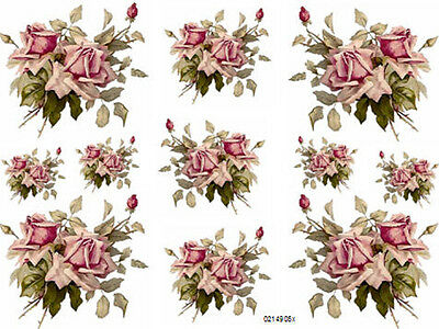 ChiC RoSY C KLeiN LuSH PinK RoSeS ShaBby WaTerSLiDe DeCALs