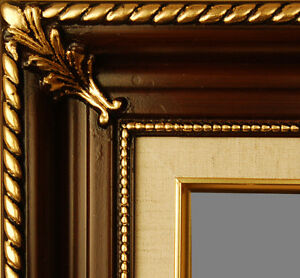 PICTURE-FRAME-WOOD-WALNUT-GOLD-ORNATE-PORTRAIT-ART-PHOTO-MANY-SIZES-AVAILABLE