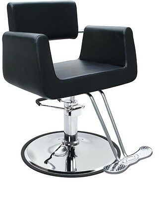 Black Modern Hydraulic Barber Chair Styling Salon Beauty Spa Supplier 69B