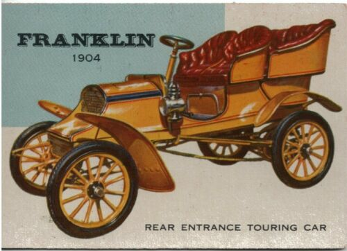 1950s Car Trade Card 1904 Franklin Touring Car