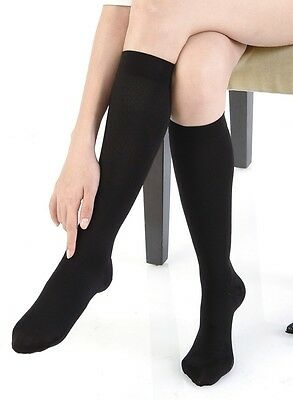 20-30mmHg FDA Approved (sz: Large) WHITE Graduated Compression Stockings Socks