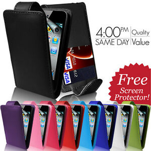 LEATHER-FLIP-CASE-COVER-amp-SCREEN-PROTECTOR-FOR-APPLE-IPOD-TOUCH-4TH-GEN-4G