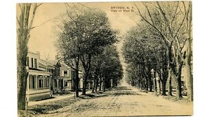 Dryden-NY-MAIN-STREET-RESIDENTIAL-SECTION-Postcard