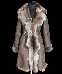 Elizabeth Grey Long Ladies Real Toscana Sheepskin Leather Jacket ...