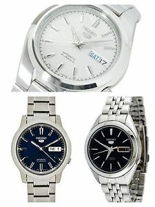 Seiko-5-Mens-Fine-Dress-Watches-Stainless-Steel-Bands-Analog-Choose-from-3