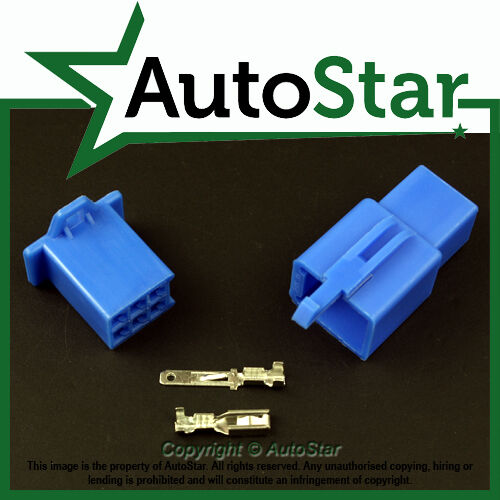 6 Way 2.8mm Mini Connector Kit BLUE Motorbike Yamaha Motorcycle Pin Connectors