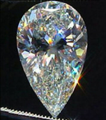 AAAAA Rated Pear White Cubic Zirconia (5x3mm-14x10mm)