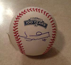Boston-Red-Sox-JHONNY-DAMON-Signed-100-Years-FENWAY-PARK-OML-Baseball