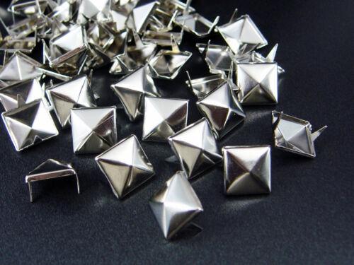 N-A99 Pyramiden Nieten 11x11mm 50//100//500//1000 Stück Pyramidennieten Ziernieten