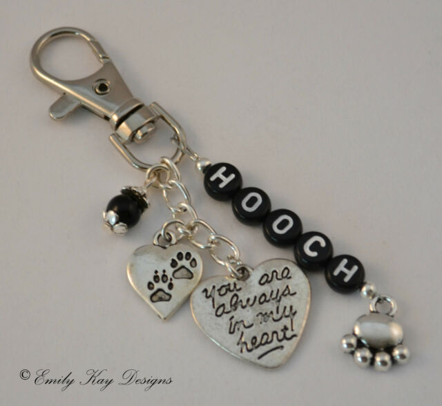 Rainbow Bridge Cat / Dog Memorial Personalised Key/Bag Charm