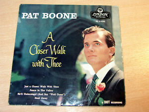 Pat-Boone-A-Closer-Walk-With-Thee-1957-7-034-Single-EP