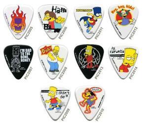 M diator de guitare les simpsons plectre ebay - Guitare simpson ...