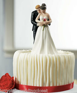 Image Is Loading Yes To The Rose Couple Romantic Wedding Cake