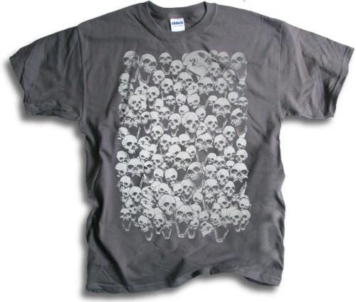 Crânes de mort Biker Gothique Horreur Hommes Femmes T Shirts SM 3XL 12 couleurs