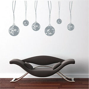 Christmas-Bulb-Decoration-Vinyl-Art-Wall-Stickers-Wall-Decals-Wall-Transfers