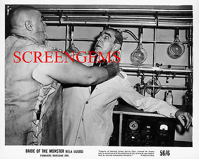 Bela Lugosi BRIDE OF THE MONSTER photo Tor Johnson Ed Wood film mint condition