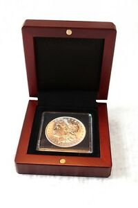 Mahogany-Wood-Grain-Box-for-1-Quadrum-Coin-Capsule-Holder-from-Lighthouse