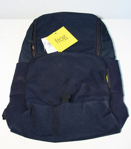 Frog-Backpack-in-Navy-Blue-Colorway-by-Mandarina-Duck-of-Italy-NEW