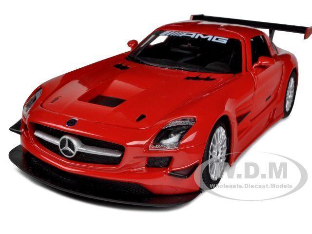 MERCEDES SLS AMG GT3 RED 1/24 DIECAST MODEL CAR BY MOTORMAX 73356