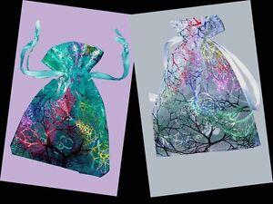 12-25-50-100-pcs-CORALLINE-Design-Organza-Bags-Gift-Pouch-12x9cm-4-75x3-5-034-AH020