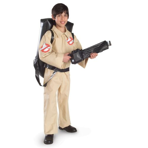 Child Movie Ghostbusters Ghost Hunter Jumpsuit Inflatable Pack Halloween Costume