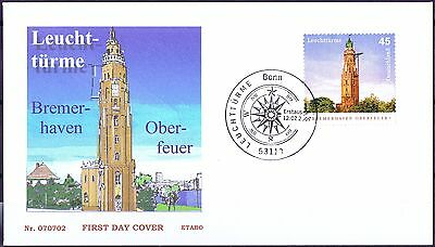 Diszipliniert Brd 2007: Leuchtturm Oberfeuer Bremerhaven Fdc Nr. 2612 Mit Bonner Stempeln 1906 Rheuma Lindern