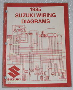 1985 SUZUKI Motorcycle and ATV Electrical Wiring Diagrams Manual ...