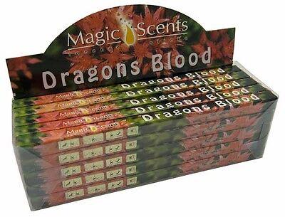 Magic Scents Dragons Blood Incense Joss Sticks 8 x 24cm Length Sticks Boxed