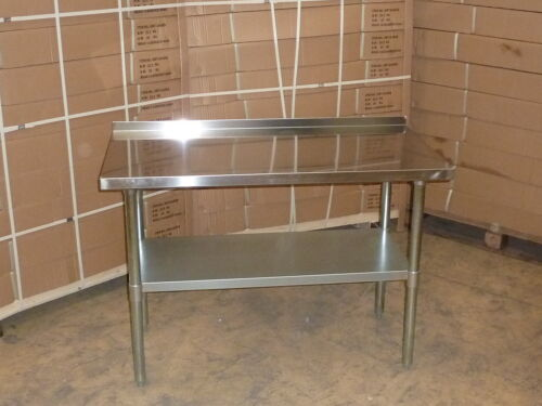 """Stainless Steel Work Bench Table Kitchen Top 24"""" x 60"""" with Splash Back"""