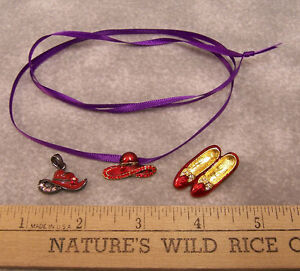 Lot of 3 red hat club society rhinestone accents pendants for Red hat bling jewelry
