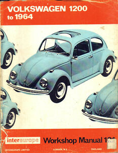 VOLKSWAGEN-1200-TO-1964-INTEREUROPE-WORKSHOP-MANUAL-121-V-Gd-Cond