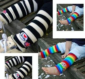 New-Baby-Toddler-Girl-Boy-Leggings-Long-Socks-Leg-Warmers-Color-stripes-Sock