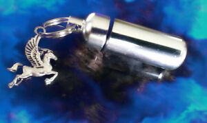 Lot-of-TWO-PEGASUS-the-Winged-Horse-CREMATION-URN-Keepsakes-in-Velvet-Pouch