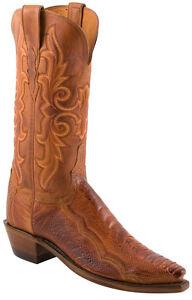 Women-039-s-1883-By-Lucchese-Western-Boots-N4066-5-4-Brandy-Matte-Ostrich-Leg