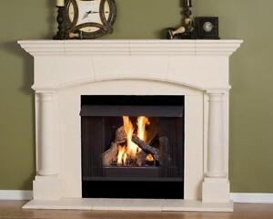 Fireplace Mantel Mantle Surround Pre Cast Stone Non Combustible Mantel Ebay