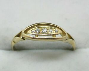 1919-Antique-18ct-Gold-Five-Stone-Diamond-Ring