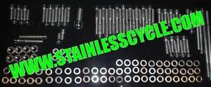 HONDA CB550 STAINLESS BOLT engine SET KIT SCREW CB500 POLISHED