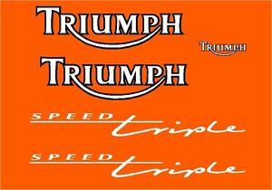 TRIUMPH SPEED TRIPLE 900 (1995) STICKER DECAL MOTO