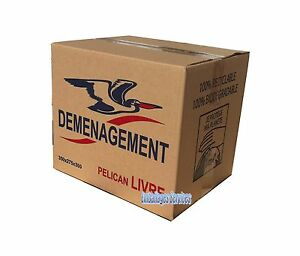 10 boites cartons emballage demenagement 350x 275 x 300 livraison gratuite relay ebay. Black Bedroom Furniture Sets. Home Design Ideas