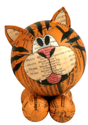 Paper Mache Tiger Figurines Handmade in the PhilippinesFair Trade