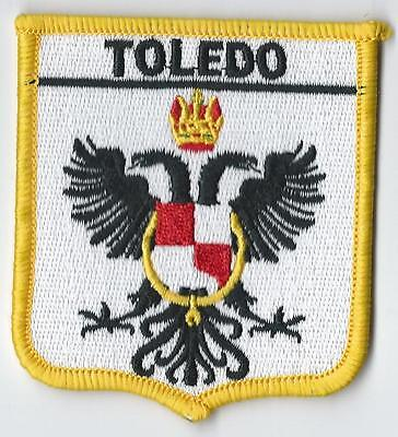 TOLEDO NEAR MADRID SPAIN CREST FLAG WORLD EMBROIDERED PATCH BADGE**EXCLUSIVE**