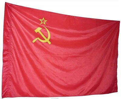 East German Soviet Red flag DDR,  made in 1986, Authentic and Rare,135cm x 85cm