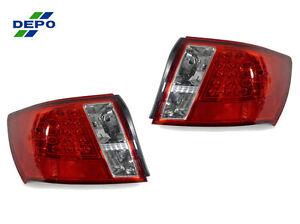 DEPO-08-12-SUBARU-IMPREZA-4D-RED-CLEAR-JDM-LED-TAIL-LIGHTS-LAMPS-WRX-STi-GE-GH