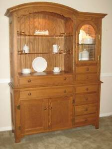 ... China Cabinet Hutch Solid Oak Richardson Brothers