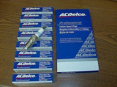 Set of 8 AC Delco Iridium Spark Plugs 41-110 12621258