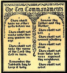 Hand-Embroidery-Pattern-1853-Picture-The-Ten-Commandments-Cross-stitch-1940s
