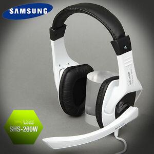 Genuine-SAMSUNG-Stereo-Headset-WHITE-Gaming-Mic-for-PC-3-5mm-jack-Bulk-Type