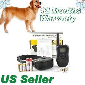 NEW-LCD-100LV-Level-Shock-Vibra-Remote-Pet-Dog-Training-Collar-For-10lb-130lb