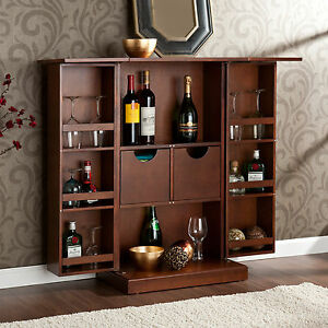 RICH-TUSCAN-OLD-WORLD-STYLE-HOME-DECOR-WINE-LIQUOR-MINI-BAR-PUB-CABINET-STORAGE