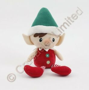 GUND-Christmas-Peppermint-Elf-Doll-Green-Hat-NEW-Ref-15926